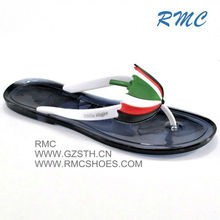 RMC New design fashion flat ladies fancy shoes