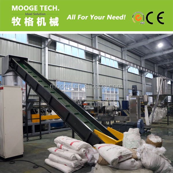 PP PE plastic film granulating production line / woven bags water ring pelleting machine