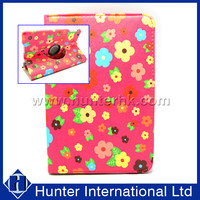 Printed Flower Rotation Tablet Case For iPad Mini