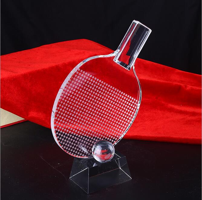 Newest Exalted crystal Table Tennis trophy