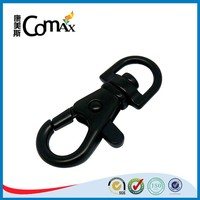 o shape black bag metal snap hook key ring