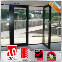 Australia AS2047 standard commercial glass double entry doors modern