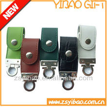 Cheapest leather USB flash driver keychain USB