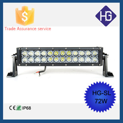 Accessories for car Offroad IP68 Crees Beams 13.5 inch 12 volt 72W led spot lighting