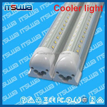 LED cooler light LED tube T8 1.5 meter, single pin available, Constant Current Driver, v shape 32w