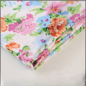 China supplier high quality floral printed 100 polyester satin fabric for cloth