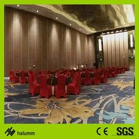 meeting room conference room wooden plastic wall partition folding partition