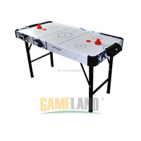 Mini operating folding air hockey table