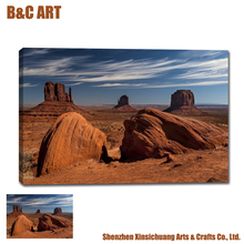 Giclee Printed Picture Desert Stone Hills Landscape Frameless Canvas Printing for Home