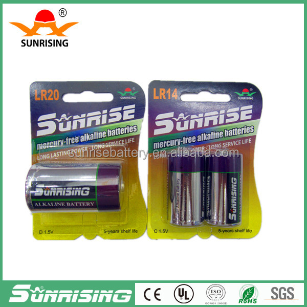 China Factory Price lr20 alkaline battery 1.5v d/1.5V Alkaline battery Dsize battery