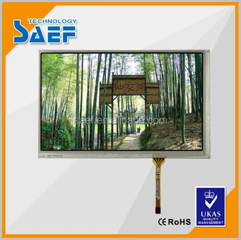"RGB 800x480 dots 7"" tft lcd touch screen module landscape type transmissive screen TFT"