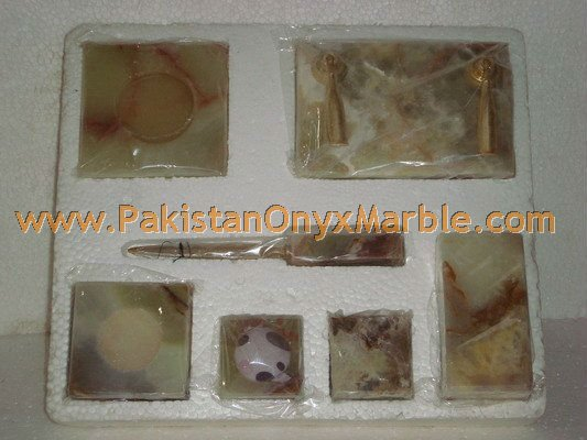 CUSTOM DESIGN AND SIZE ONYX OFFICE SETS HANDICRAFTS