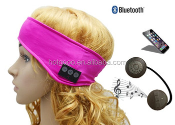 Wireless bluetooth sport sweatband with earphone and microphone