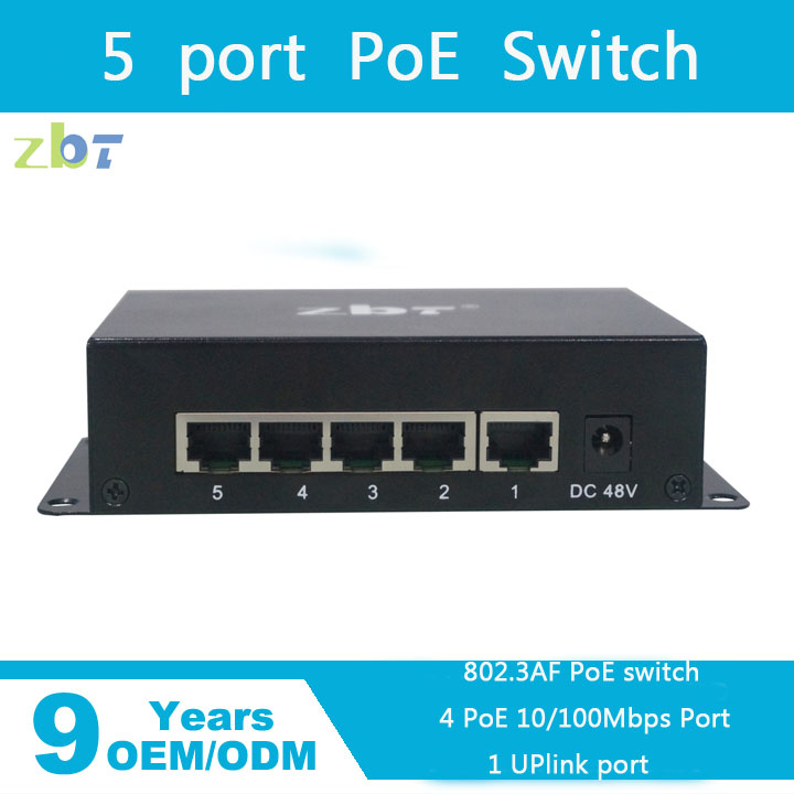4 poe 5 port 10 100Mbps Fast Ethernet Switch for IP Camera