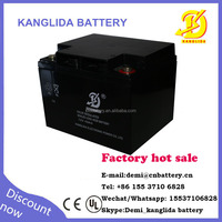 Kanglida 12v 40ah lead acid rechargeable maintenance-free battery for ups solar panel