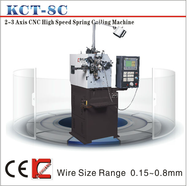 KCT-8C High-speed compression spring coiling making machine