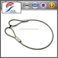 steel wire cable with eye loop end
