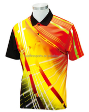 custom sublimation mens stand polo collar striped t shirts
