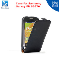 For Samsung Galaxy Fit s5670 Ultra Slim Leather Flip Case Magnetic Cover
