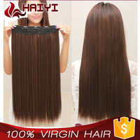 Alibaba express wholesale full cuticle 200g 8a grade 100% human hair virgin remy Brazilian clip in hair extension