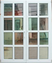 french PVC Casement Window with triple tempered glass and filled argon gas