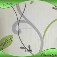 35101 XuanMei Heavy Embossed Leaf Design Vinyl Home Decoration Wallpaper