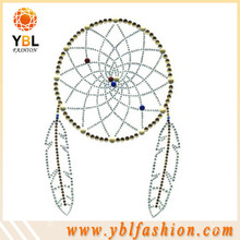 Fashion glass iron-on rhinestone basketball heat transfer