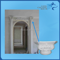 Exotic Style Customizable White Polished Plaster Roman Capital