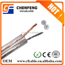 China Transparent Speaker Cable Gold and Silver