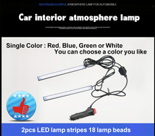 2pcs 12V single colour 5050 Car interior LED Light for Car Decoration