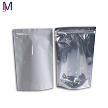 Clear Stand Up Pouch Shiny Aluminum Foil Pouch Transparent Front Ziplock Plastic Bag Packaging