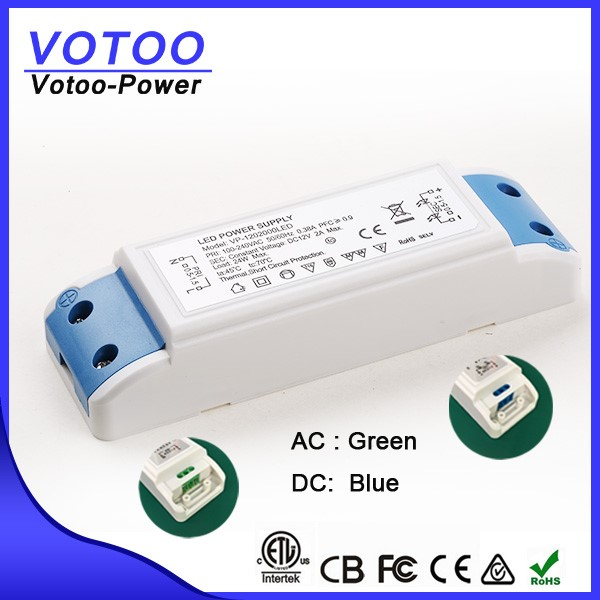 24w 12v constant voltage waterproof led driver with CE ROHS EMC
