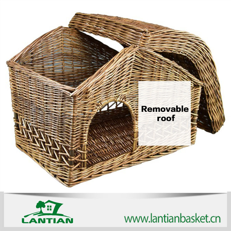 Handmade Wicker Dog Basket : Wholesale handmade high quality wicker basket for pet