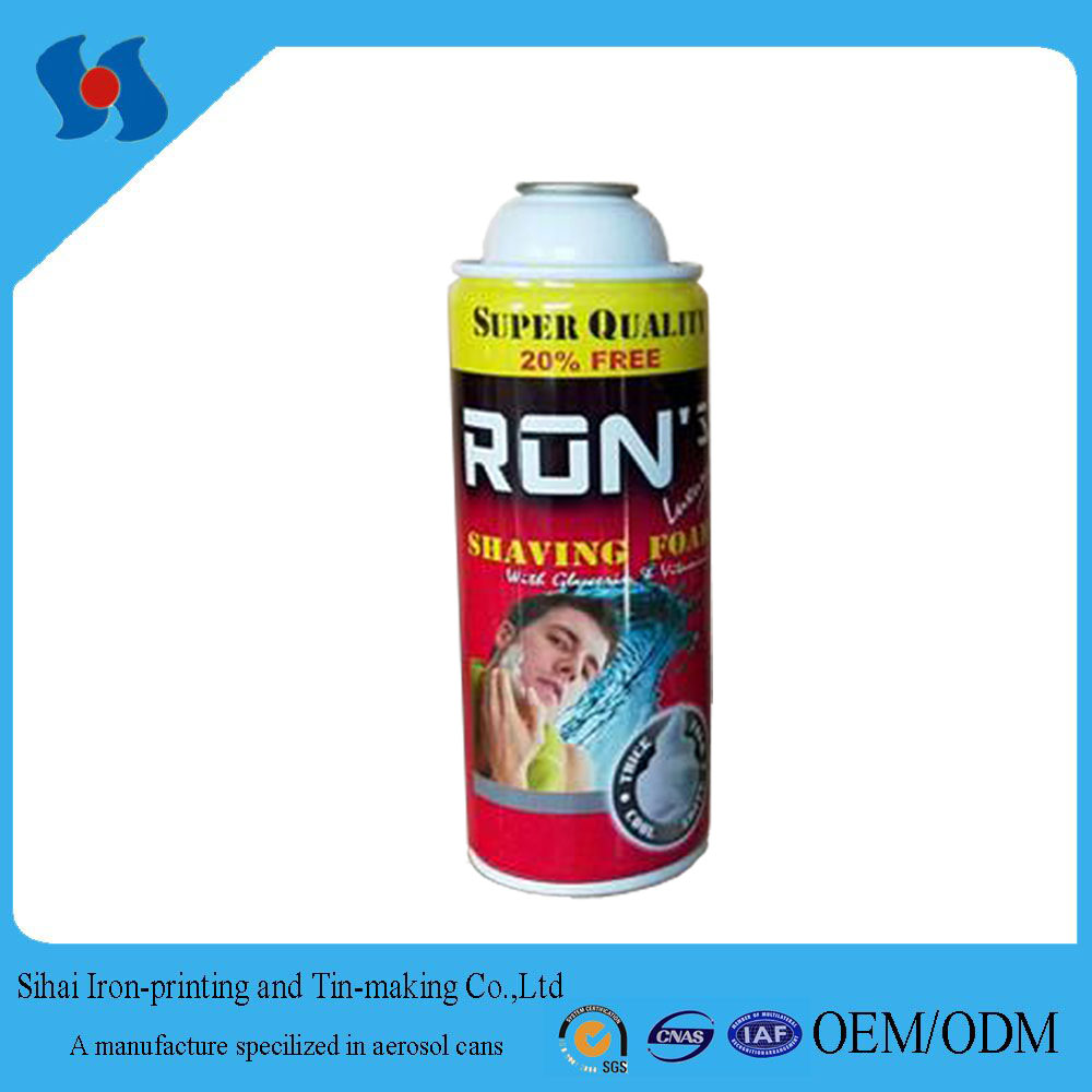 Hot Sales Empty Aerosol Tin Can for Shaving Foam Manufacturer in China