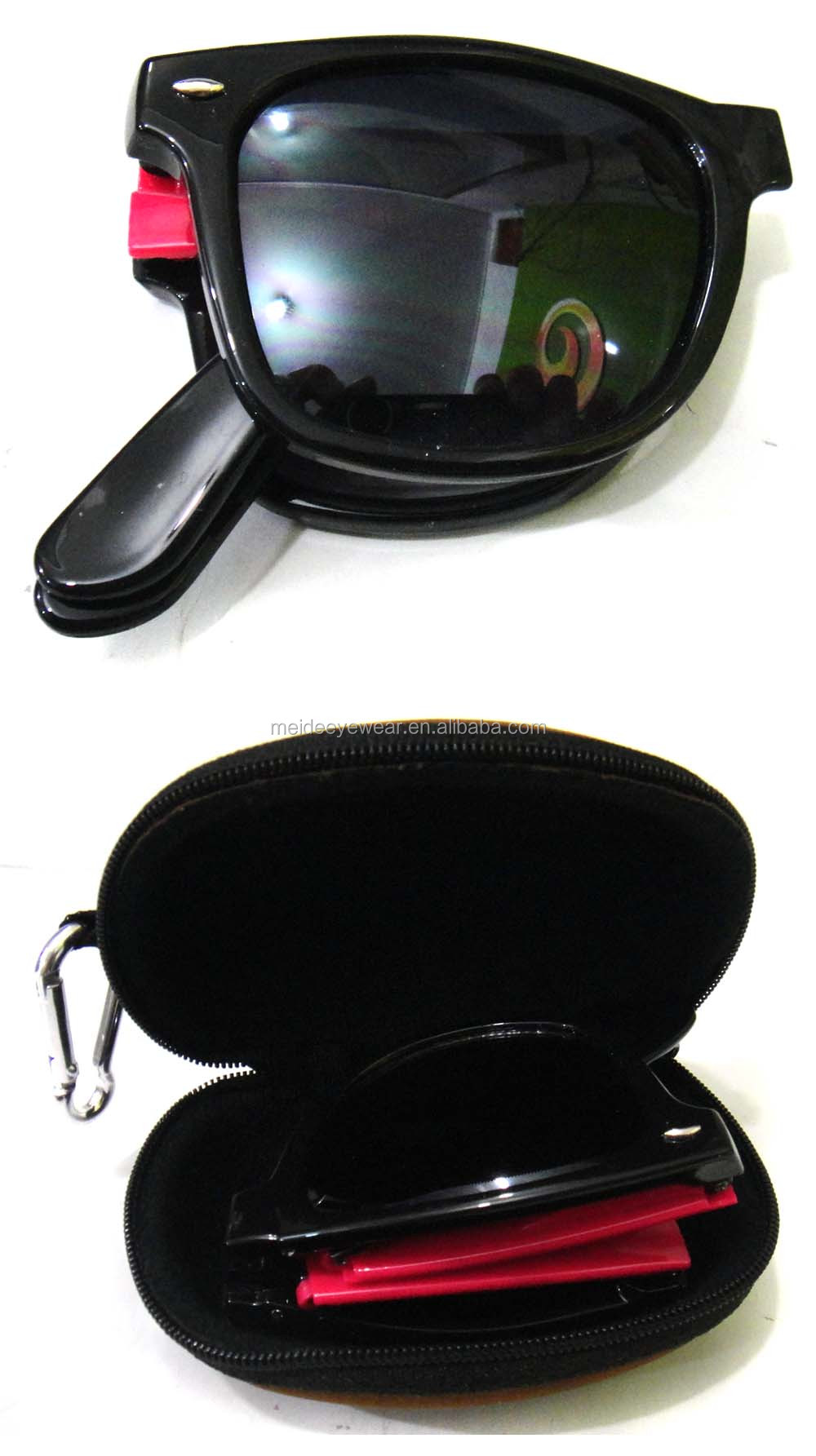 2014 cheap folding sunglasses with case