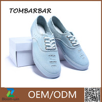 Denim Flat Casual Woman Canva Shoes