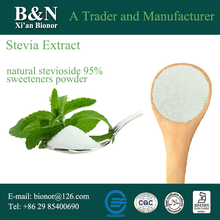 Free Sample low calorie 100% pure natural stevioside 50-98% sweeteners sugar powder stevia extract for food