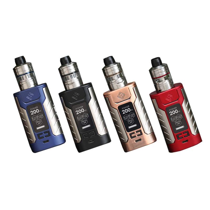 New Products Wismec Sinuous FJ200 200W Box Mod Kit with Divider Tank