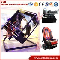 Linkyou 360 degree full motion flight simulator for sale