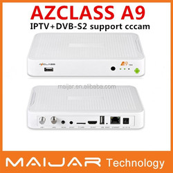 Android+dvb-s2 AZclass A9 with twin tuner support cccam account SKS&IKS Nagra3 free for south American