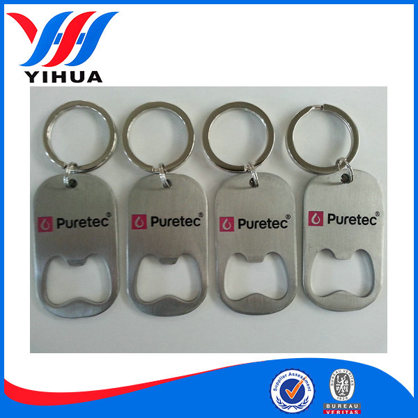Stainless steel beer Bottle opener keychain
