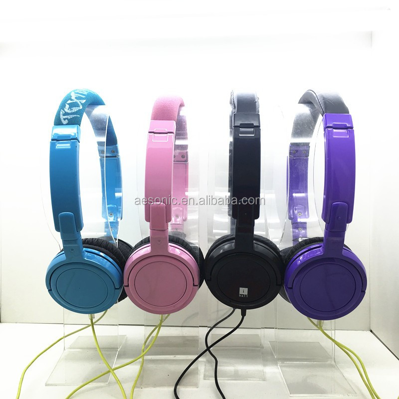 high quality colorful rotatable sterero wired headphone