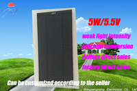 5Watt 5.5V Solar Panel Monocrystalline Solar Cell PET Laminated Super Light Thin Charging 3V Battery