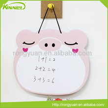 Cute small hanging pig shaped no frame writing board