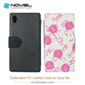 China foldable leather phone covers for Sony M4