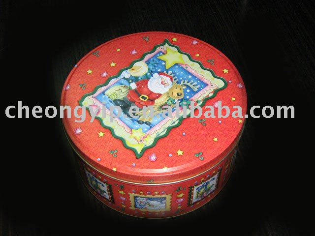 round can tin tea case tin box metal gift box cases