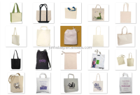 Wholesale Promotional Shopping Reusable Tote Plain White Cotton Bag