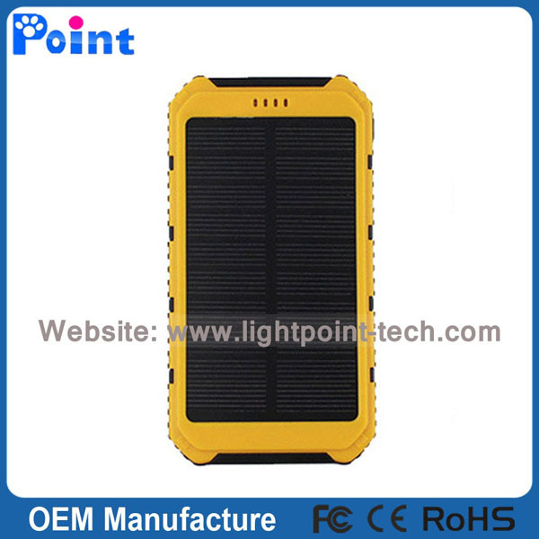 Fashionable Military waterproof outdoor solar power bank