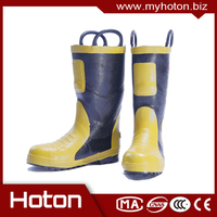 New design firefighter flame retardant insulation waterproof anti-skid rubber boots for wholesales