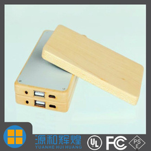 Mobile power supply 4000mAH Wood shell External Battery Pack Power Bank For Cellphone